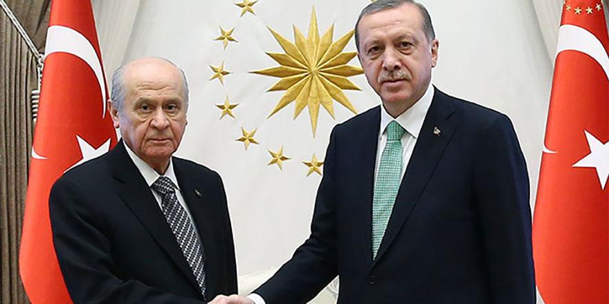 Erdoğan, MHP lideri Bahçeli ile görüştü