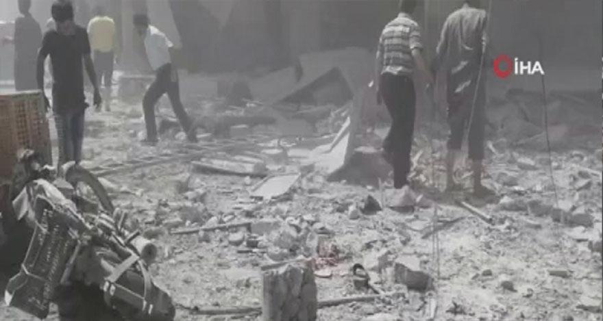 Suriye güçleri İdlib'i bombaladı