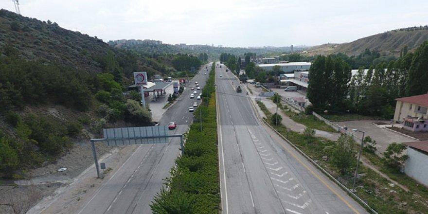 Ankara'da  bayram öncesi yollar boşaldı