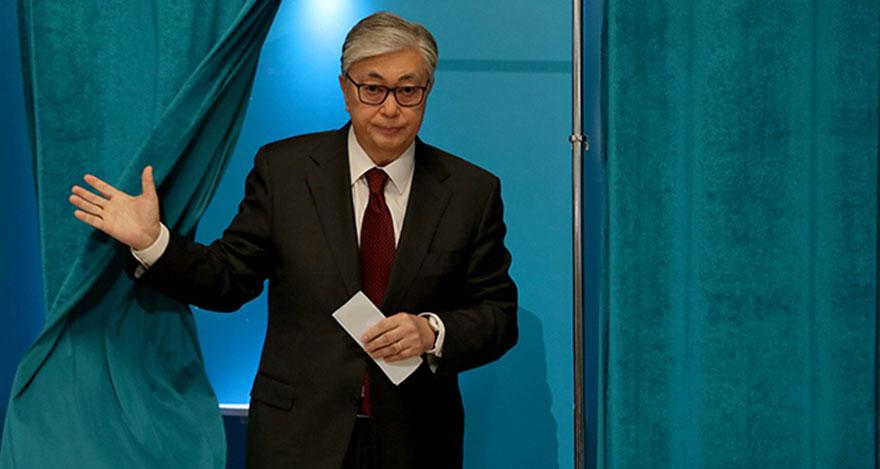 Kazakistan'da seçimi Tokayev kazandı