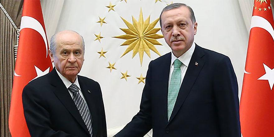 Cumhurbaşkanı Erdoğan'ın Bahçeli ile görüşmesi sona erdi