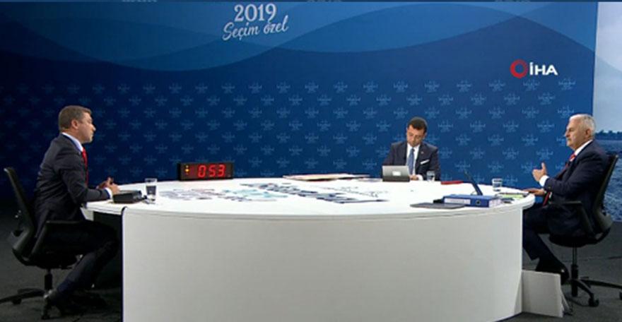 Binali Yıldırım ve Ekrem İmamoğlu tarihi yayında sorulara cevap verdi