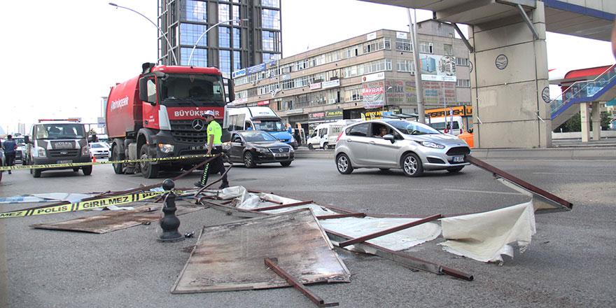 Başkent'te üst geçit kazası: 1 yaralı