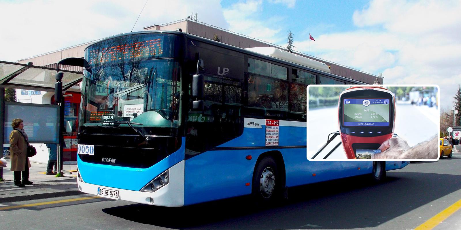 Mavi otobüslerde de Ankarakart dönemi başlıyor