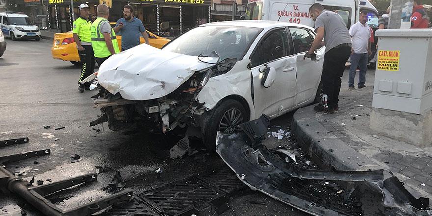 Yenimahalle'de feci kaza