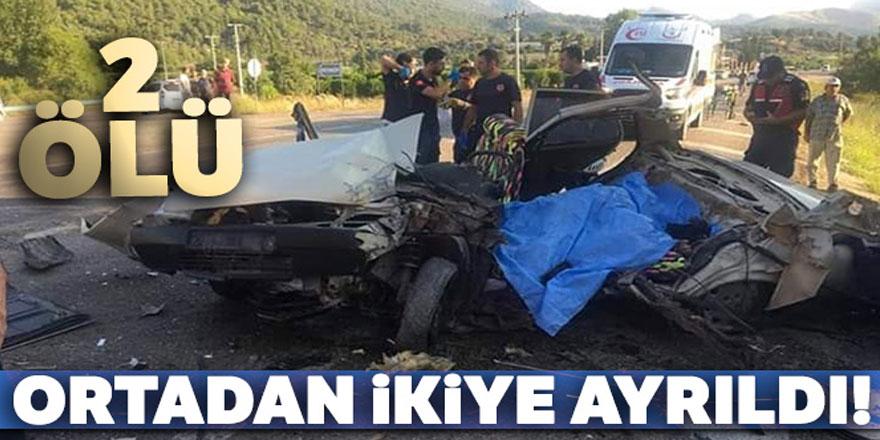 Antalya'da feci kaza: 2 ölü