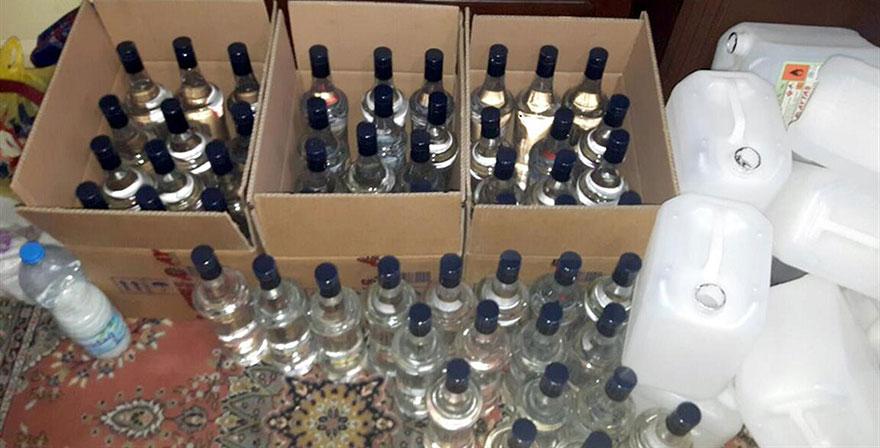 Kırşehir'de, sahte içki ele geçirildi