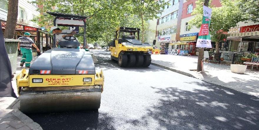 Kızılay'da asfalt çalışması hız kesmiyor