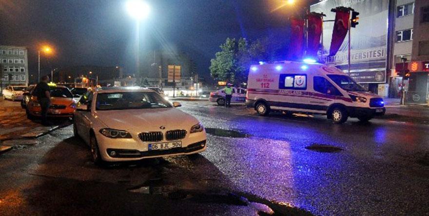 Ankara'da aday sürücü yayaya çarptı