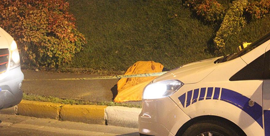 Cadde üzerinde erkek ceset bulundu