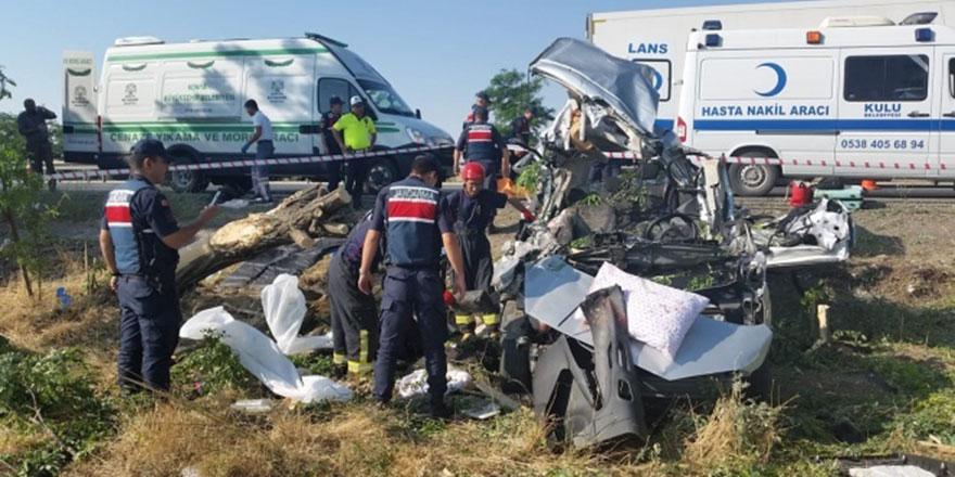 Konya'daki feci kazada 3 kişi öldü