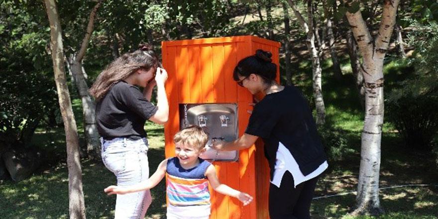 Keçiören parklarına su sebili hizmeti
