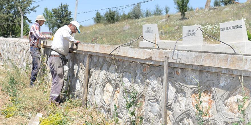 Köy mezarlıklarına bakım