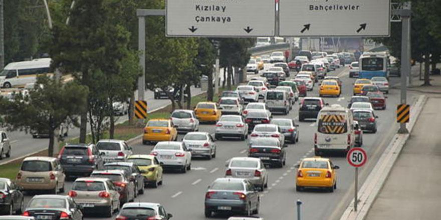 Ankara nüfusta ikinci araç sayısında birinci