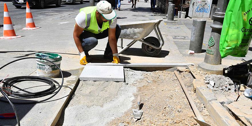 Başkent kaldırımlarına onarım