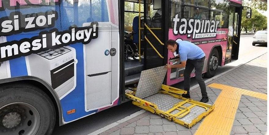 """EGO otobüslerindeki engelli rampaları """"SOS"""" veriyor"""