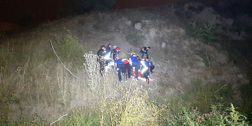 Ankara'da dereye düşen adam iki saatlik çalışmayla kurtarıldı
