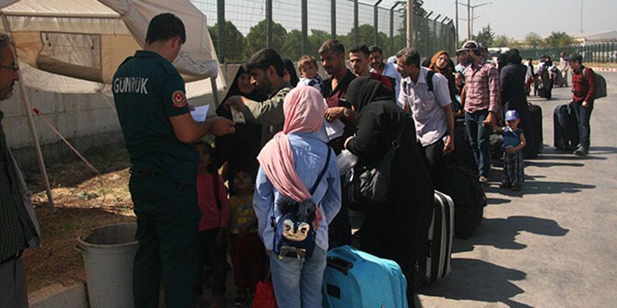 Suriyeliler bayram tatilinden dönüyorlar