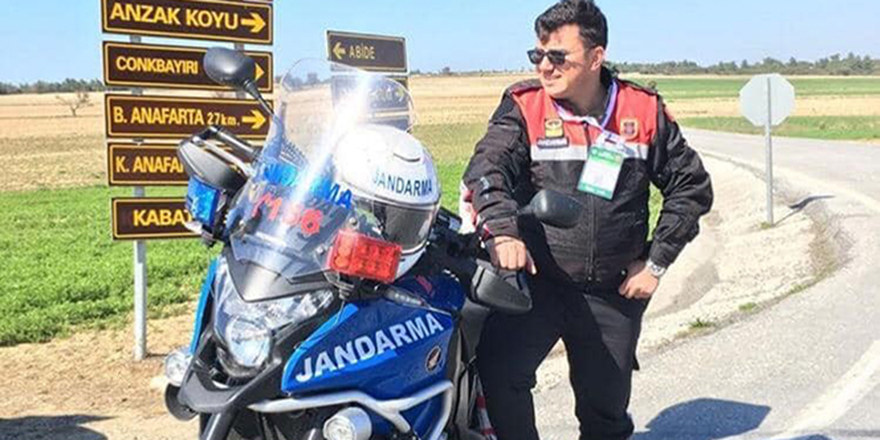 Motosikletli jandarma yaptığı kazada şehit oldu