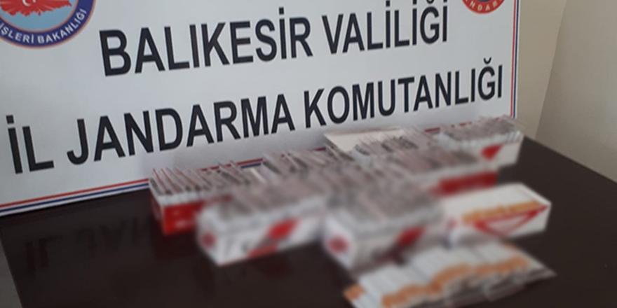 Balıkesir'de kaçak sigara operasyonu