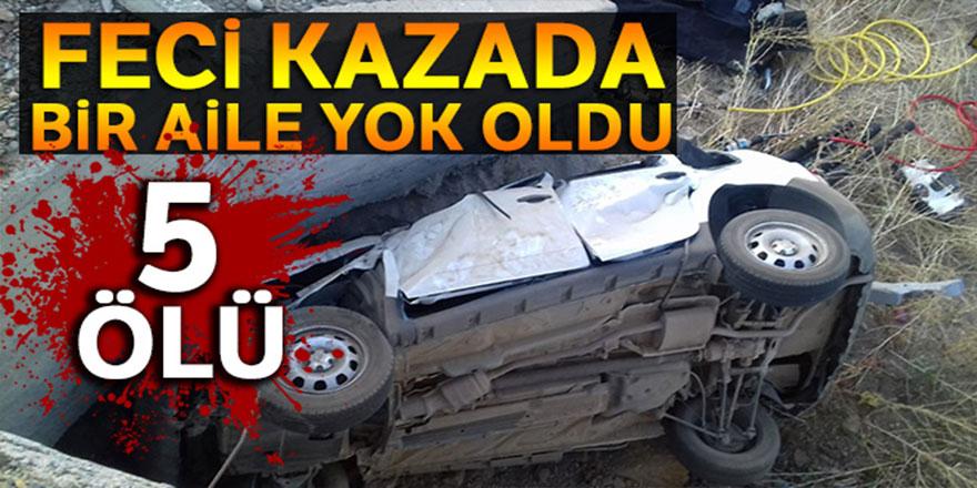 Erzurum'da feci kaza: 5 ölü