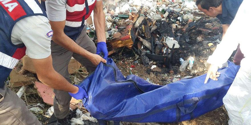Sincan'da yanmış erkek cesedi bulundu