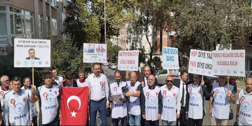 HDP Genel Merkezi önünde eylem