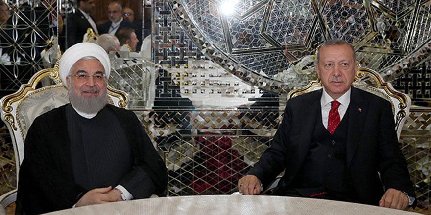 Cumhurbaşkanı Erdoğan ve Ruhani birarada