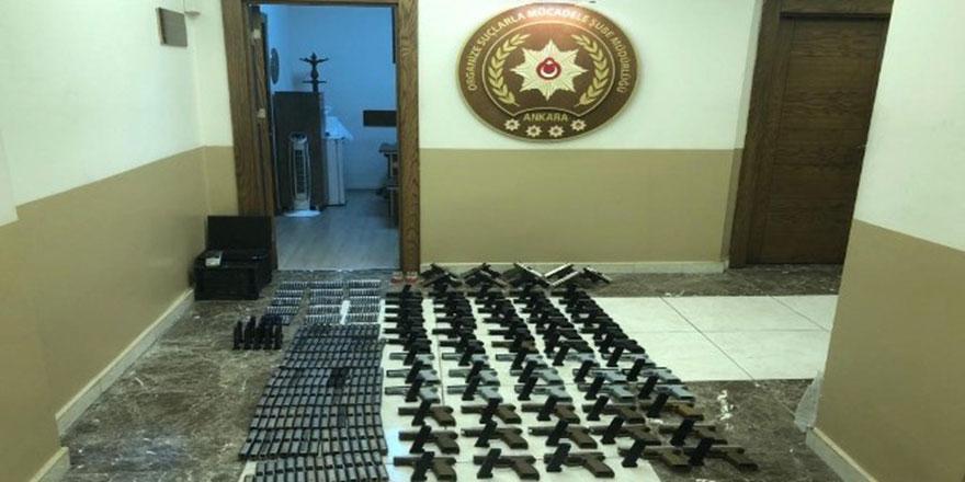Ankara'da kaçak silah atölyesine baskın
