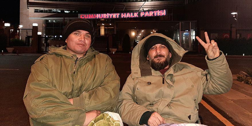 CHP Genel Merkezi önünde açlık grevi