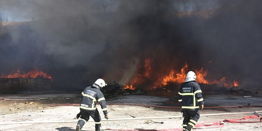 Kırıkkale OSB'de fabrika yangını çıktı
