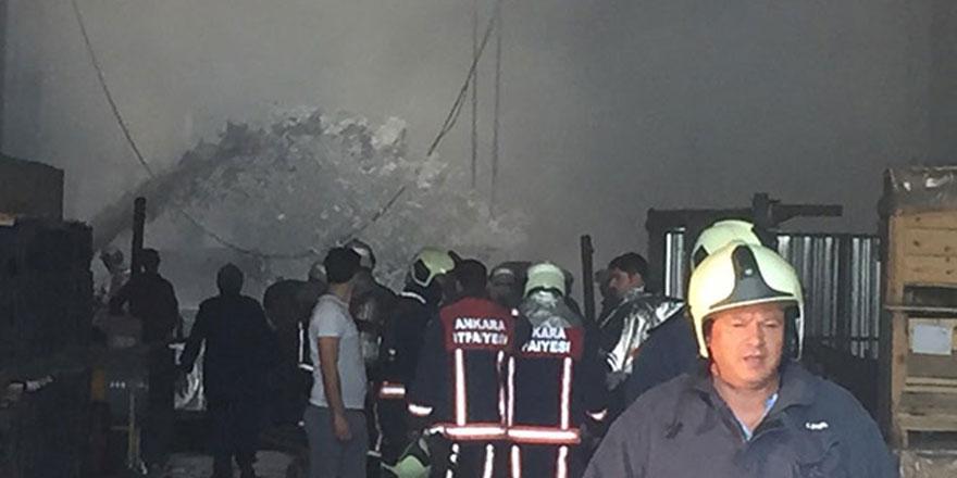Ankara'daki fabrika yangını korkuttu