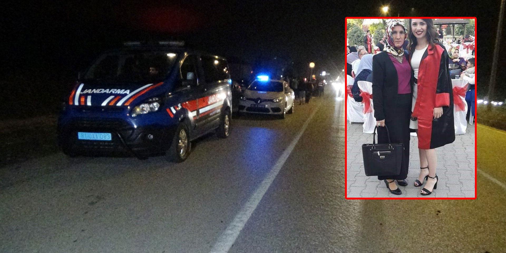 Düzce'de otomobil çarpan anne ve kızı feci şekilde öldü