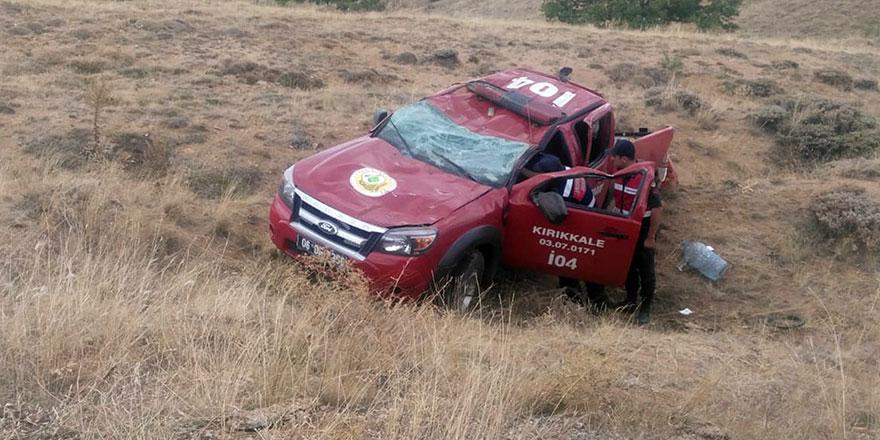 Kırıkkale'de trafik kazası; 2 yaralı