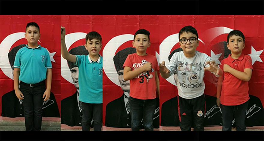 Öğrencilerden Mehmetçiğe 'Komando Andlı' destek