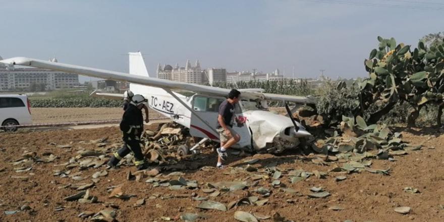Antalya'da uçak kazası