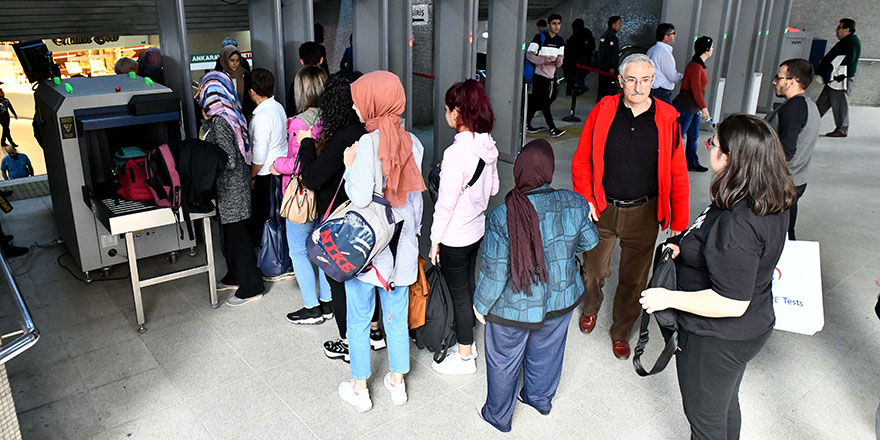 Ankara'daki raylı sistemlerde güvenlik öncelik