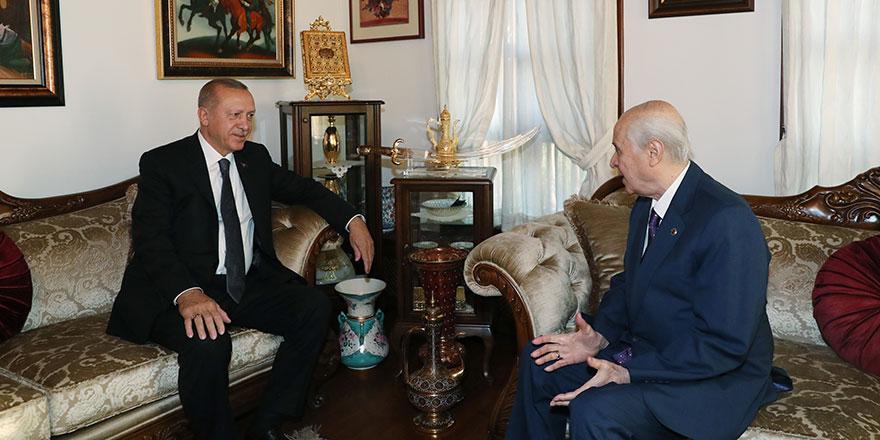 Cumhurbaşkanı Erdoğan'dan Bahçeli'ye ziyaret