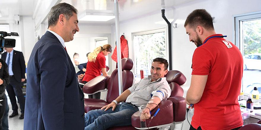 Mamak'ta Mehmetçik için kan bağışı