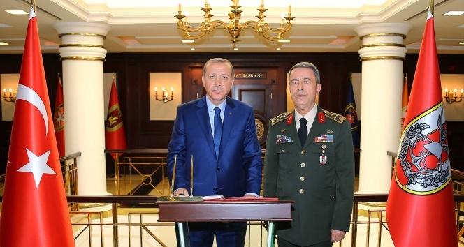 Cumhurbaşkanı Erdoğan Genelkurmay Başkanlığı'nda