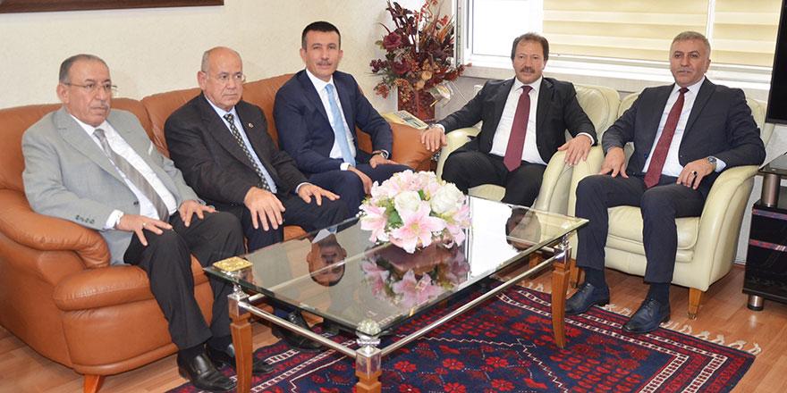 ANKESOB Başkanı Yiğiner'e Balcı'dan ziyaret