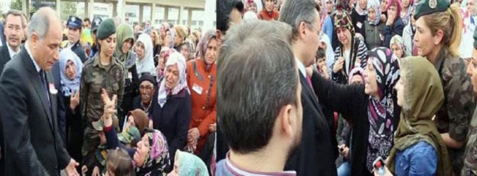Şehit cenazesinde Efkan Ala ve Melih Gökçek'e tepki
