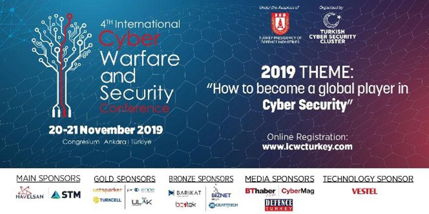 """""""4. Siber Savaş ve Güvenlik Konferansı"""" Ankara'da gerçekleşecek"""