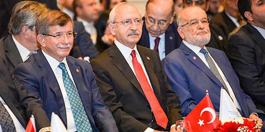 Kılıçdaroğlu, Karamollaoğlu ve Davutoğlu Ankara'da bir araya geldi