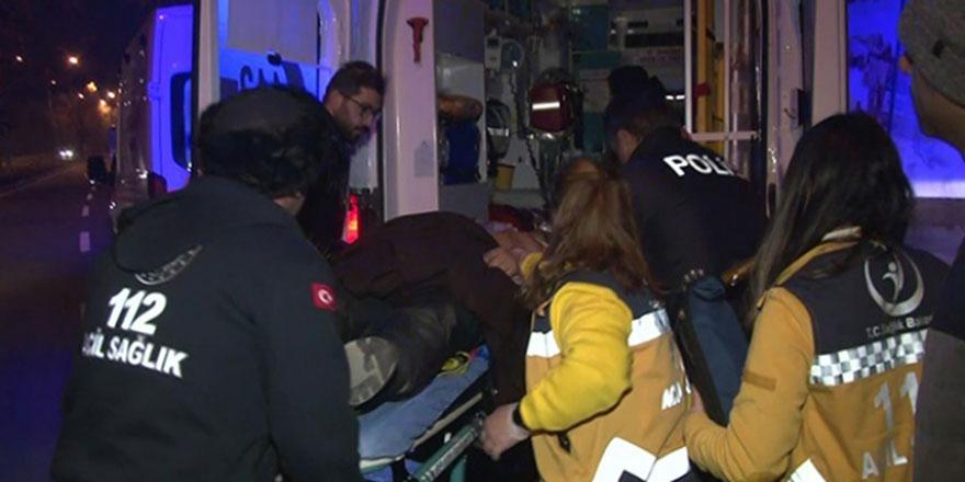 Ankara'da motosikletiyle kaza yapan sürücü ağır yaralandı