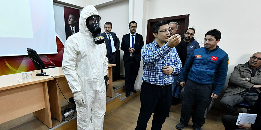 Ankara itfaiyesinde kimyasal eğitim
