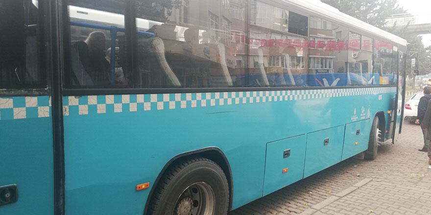 Otobüste uyuyan kadına taciz iddiası