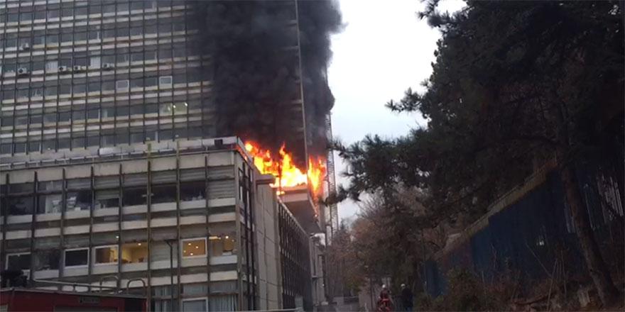 DSİ Genel Müdürlüğü'nde yangın