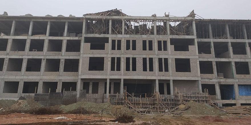 Yenimahalle'de ilkokul inşaatında göçük; 1 ölü 1 yaralı