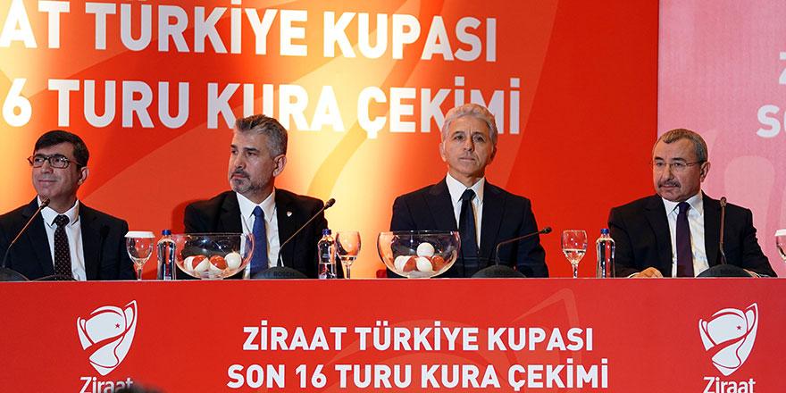 Ziraat Türkiye Kupası Son 16'da sürpriz eşleşmeler
